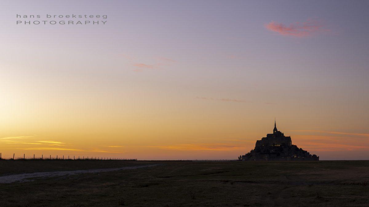 Sunset over Le Mont Saint Michel, Normandy, France