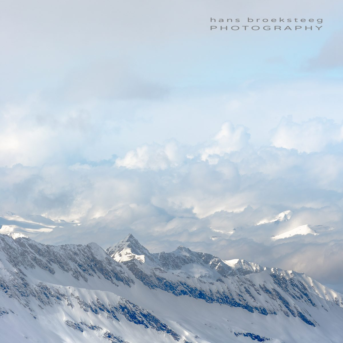 Clouds and mountains in the Austrian Alps